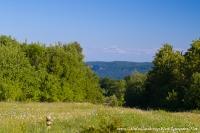 Вид на Скалу Ленина с Камышановой поляны